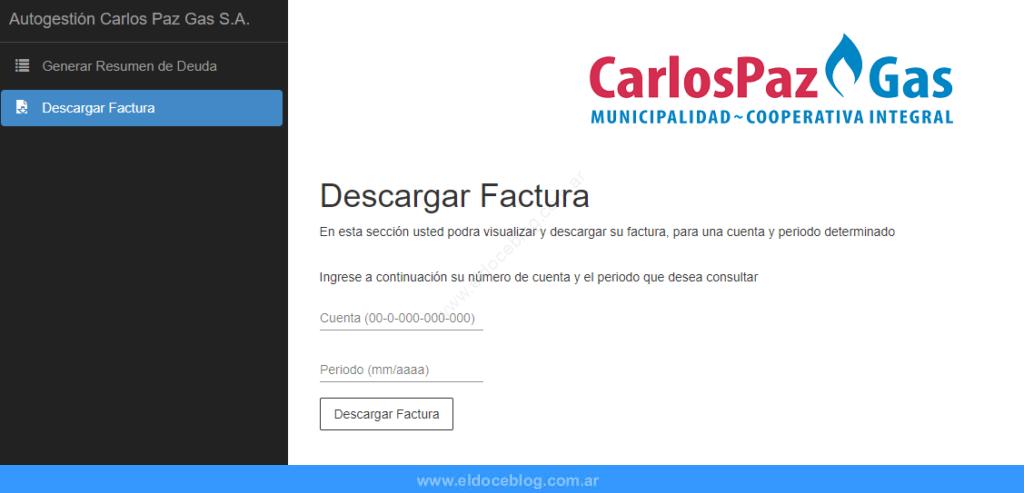 Consultar Factura De Carlos Paz Gas