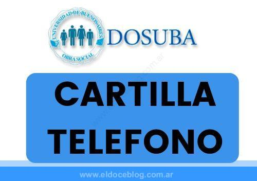 DOSUBA: Cartilla, Teléfono, Farmacias, Emergencias, Autorizaciones, Afiliaciones, Turismo