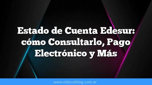 Estado de Cuenta Edesur: cómo Consultarlo, Pago Electrónico