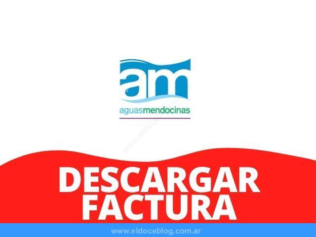 AYSAM Aguas Mendocinas Descargar Factura, Ver, Imprimir, Bajar