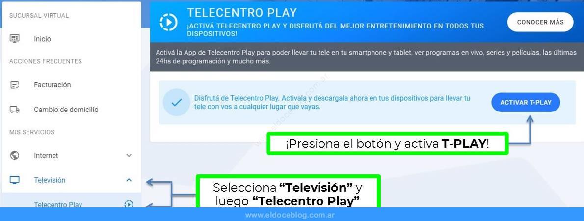 ¿Cómo hago para contratar Telecentro Play online en Argentina?