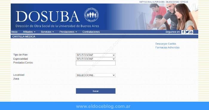 ¿Cómo consultar la Cartilla médica de DOSUBA?