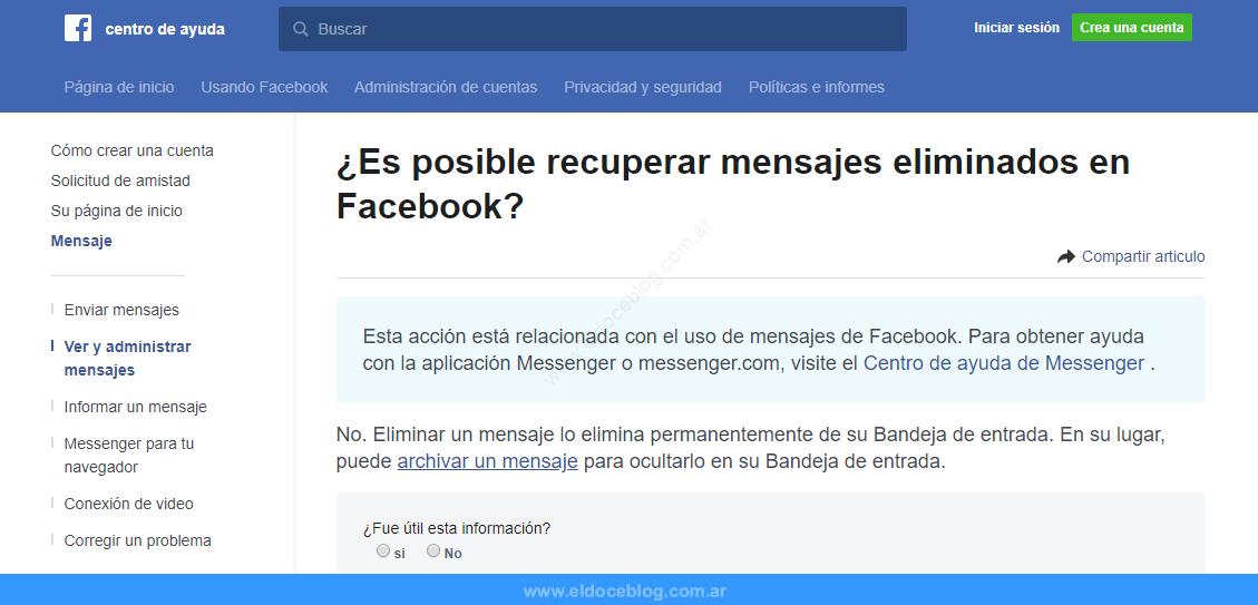 Cómo Recuperar Mensajes Borrados De Facebook 