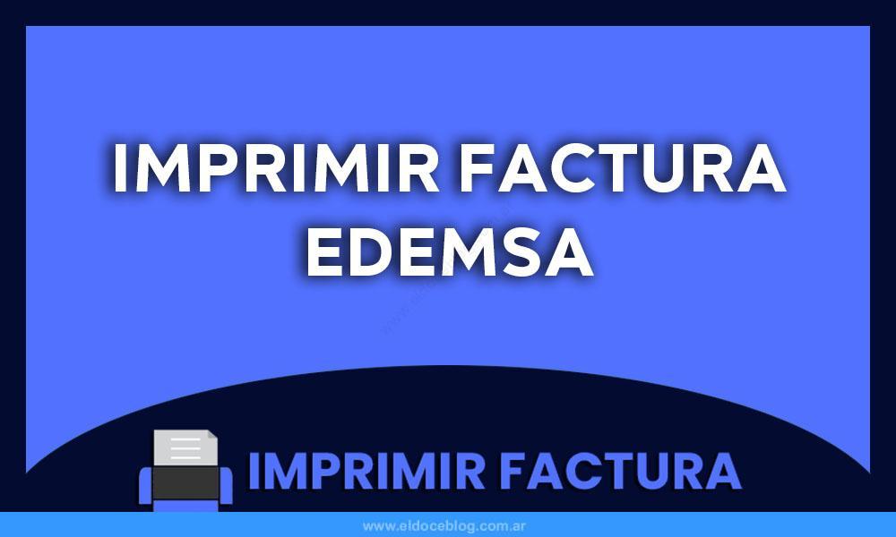 Imprimir Factura Edemsa
