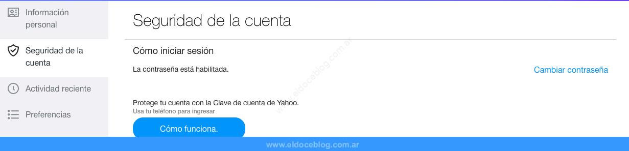 Cómo Cambiar La Contraseña De Yahoo