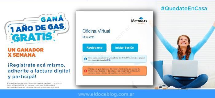 ¿Cómo obtengo las boletas de MetroGas en línea?