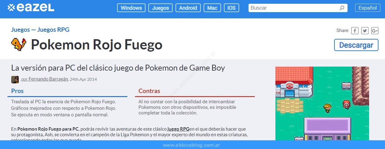 Cómo Descargar Pokemon Rojo Fuego