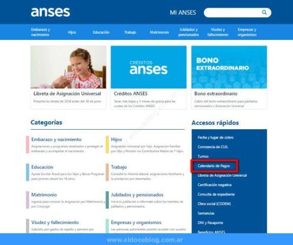 Consulta de liquidación de asignaciones familiares en ANSES • Tramite en línea