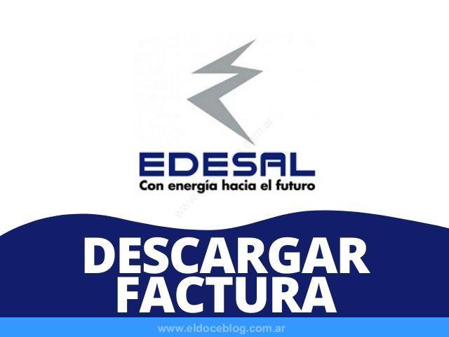 Como Descargar Factura PDF EDESAL Online Ver, Imprimir, Bajar