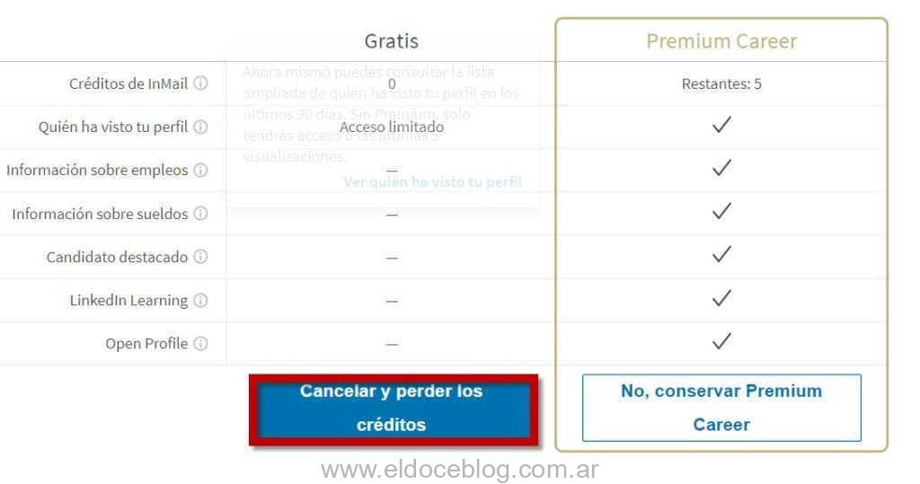 Linkedin Premium Dar de Baja Paso a Paso