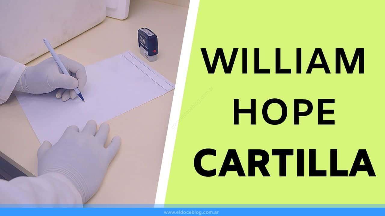 cartilla medica de William Hope
