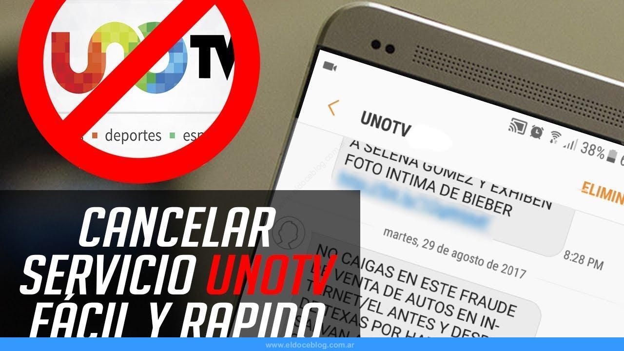 como darse de baja mensajes de texto UnoTV