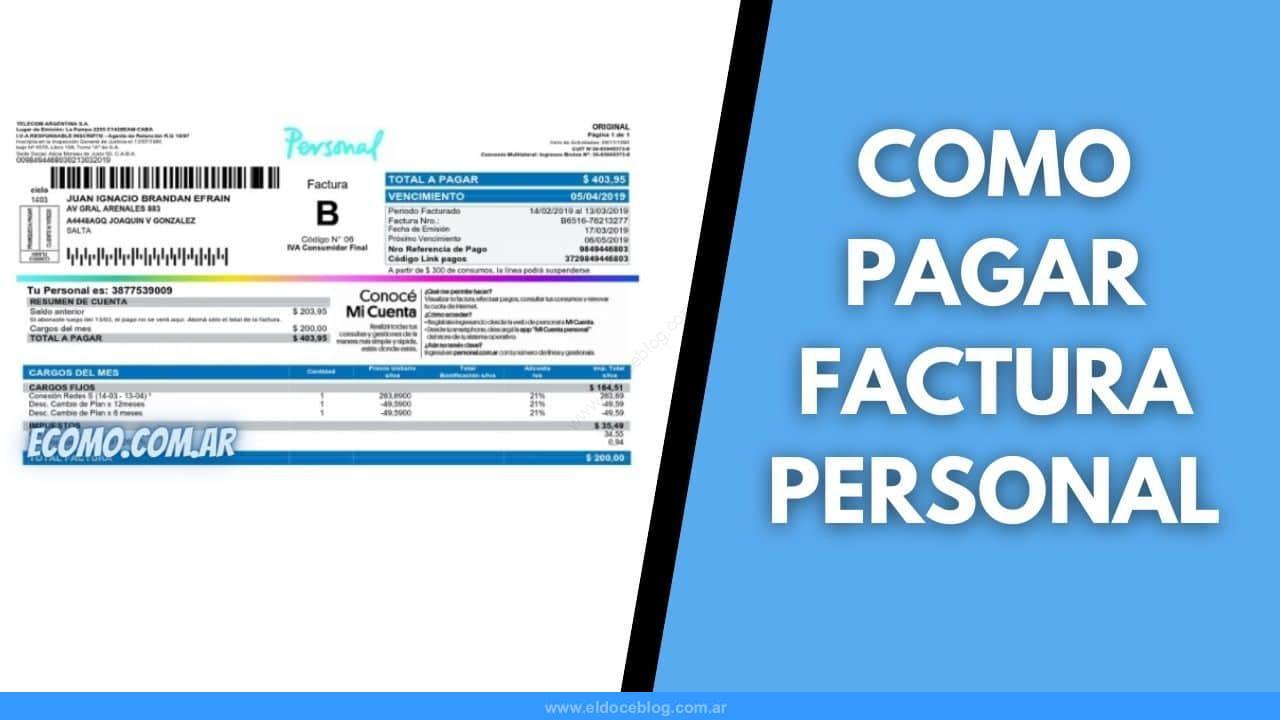 Como Hacer para Pagar Factura de Personal Online