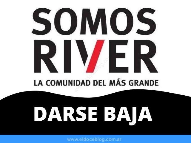 Cómo Hago para Dar de Baja Somos River